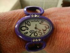 """montre femme ERNEST violette, modèle """"mélody"""", bracelet clip"""