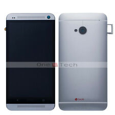 New HTC One M7 Full Silver Frame+LCD Touch Digitizer Assembly+Back Housing Cover