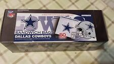 Dallas Cowboys 50 Sandwich Bag  6 1/2 in x 5 7/8 in Press to Close