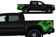 Custom Vinyl Graphics Decal SCREAM Wrap Kit fits 16-17 Toyota Tacoma TRD - Green