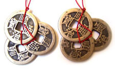 2 Sets of Feng Shui Chinese I Ching Lucky Money Prosperity Coins