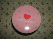 Rare Vintage 1980s Stationery - Venice Two Cups Sweet Sherbet Tin - Heart design