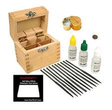 10K 14K 18K Gold Test Acid Testing Kit Loupe Magnet Files Stone + Wooden Box