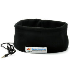 Sleep Mask Earphone Sleeping Headband wearable over ear Headphones headset Black