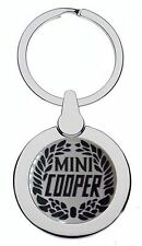 MINI COOPER CREST LEAF CHROME KEYRING