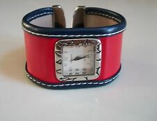 DESIGNER RED AND NAVY COLOR WOMEN'S FASHION BANGLE WATCH