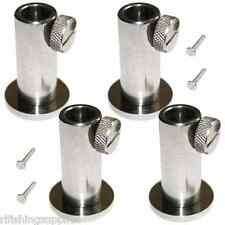4 x STAINLESS STEEL STAGE STANDS FOR CARP FISHING PLATFORM BANKSTICK HOLDERS