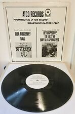 Iron Butterfly ~ Buffalo Springfield Atco IN STORE WHITE LABEL PROMO ONLY LP