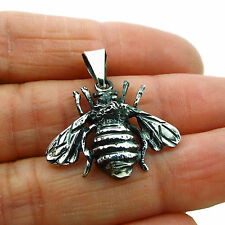 Bee 925 Sterling Silver Two Tone Baby Bumblebee Pendant