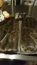 faux fur and leather woman's coat Wilson's size large reversible to leather