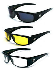 3 PAIRS COMBO Biohazard Rectangular Slim Sunglasses Motorcycle Riding UV Protect