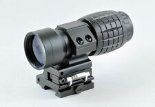 Tactical 3X Magnifier Scope Sight with Flip To Side Picatinny Weaver Rail Mount