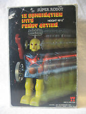 RARE vintage SUPER ROBOT battery operated toy MIB 12 combination funny action !!
