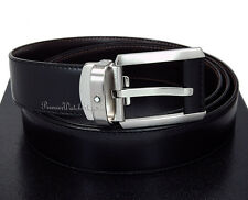 NEW Mont Blanc Contemporary Line 38158 Reversible Black/Brown Leather Men's Belt