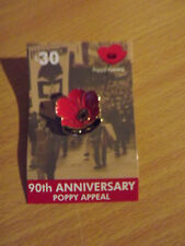 ANZAC Remembrance Day badge. 90th  Anniversary of the POPPY Appeal