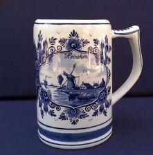 Vintage Delft Blue Stein Mug Windmill Holland Handwork t Delftsche Huys Heineken