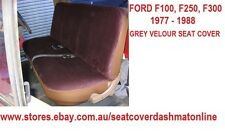 GREY VELOUR SEAT COVER FIT FORD F100,F150,F250,F350 1986,1983-1993
