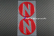 For 03~09 Nissan 350Z Z33 Red Carbon Fiber Side Fender Emblem Decals Cover