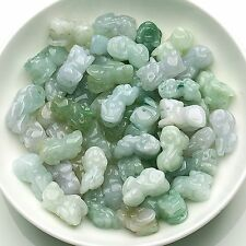 20pcs Natural ICY A Grade Jade (Jadeite) Bead Luck DIY Pixiu Loose Pendant Good