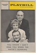 """You Know I Can't Hear You When The Water's Running"" Playbill 1967 Martin Balsam"