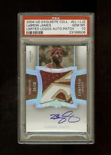 04-05 LEBRON JAMES UD EXQUISITE LIMITED LOGOS AUTO PATCH /50 PSA 10 GEM *POP 1*