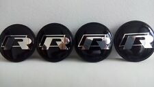 4x VW R line Felgendeckel 65mm Nabendeckel Nabenkappe wheel centre caps neu