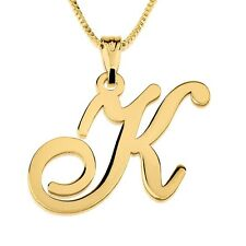 Initial Necklace - 24k Gold Plated Personalized Letter Monogram Necklace