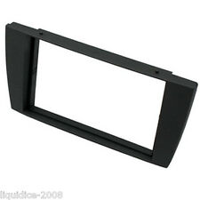 CT24JG02 JAGUAR X TYPE 2002 to 2009 BLACK DOUBLE DIN FASCIA ADAPTER PANEL