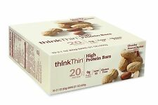 thinkThin HIGH PROTEIN CHUNKY PEANUT BUTTER CHOCOLATE DIPPED 10 PK - 2.1 OZ BARS