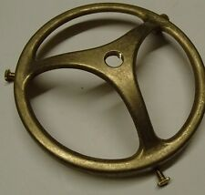 "4"" Cast Brass Unfinished Gas Shade Globe Holder Repair Refurbish"