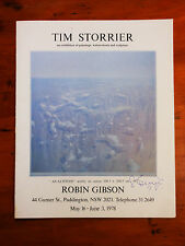 STORRIER, Tim. An exhibition of paintings, watercolour and sculpture. 1978.