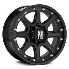 "17 Inch Black Wheels Rims Chevy 2500 3500 1500HD XD Series Addict 17x9"" 8 Lug"