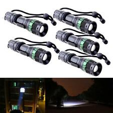 5pcs 3000 Lumen Zoomable CREE XM-L Q5 LED Flashlight Torch Zoom Lamp Light