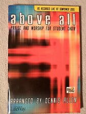 "Christian Piano Book ""Above All"" Dennis Allen Music/Vocal/Song Songbook Lifeway"