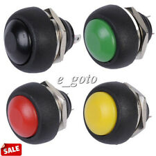 4pcs Black Red Green Yellow 12mm Waterproof Momentary Push button Switch 250V D