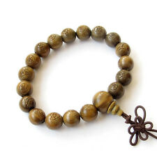 Green Sandalwood Buddha Word Beads Tibet Buddhist Prayer Bracelet Mala