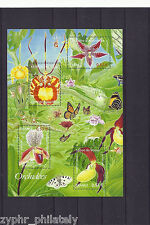 "France - ""BUTTERFLIES ~ FLOWERS ~ ORCHIDS"" MNH MS 2005 !"