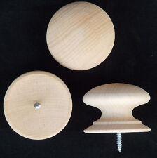 """Packung von 10 Groß 53mm (2"""" Buche Antiker Stil Holz Knöpfe with Schraube Griffe"""