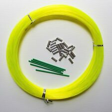 OUTRIGGER LEADER LINE 2.0MM 100YDS 400LB W CRIMPS - YELLOW