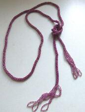 Vintage Art Deco Flapper Glass Bead Sautoir Pink Necklace