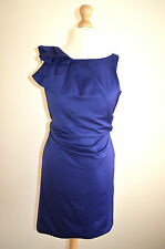 LADIES DESIGNER MONSOON ELEGANT BLUE FITTED WEDDING/OCCASION DRESS BNWT UK12
