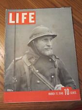 Life Magazine Poilu French Soldier March 1940