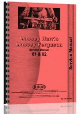 Massey Harris 81 Tractor Service Manual