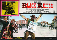 CINEMA-fotobusta BLACK KILLER klaus kinsky, LUCKY MOORE
