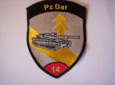 Schweizer Armee  21  aufnäher  Pz Bat 14 in rot    ca 9 x7 cm