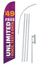 Solavei Unlimmited Swooper Bow Banner Flag Flutter Sign Cell Phone