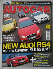 Autocar 21/2/2006 featuring Ford Focus ST, BMW, Audi RS4, Porsche, Mercedes AMG