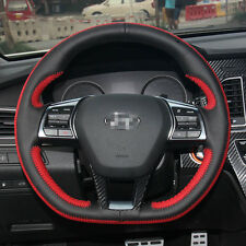 New Black Leather Steering Wheel Stitch on Wrap Cover For Hyundai Sonata 9th