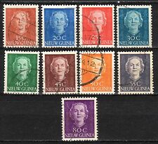 Dutch New Guinea - 1950 Definitives Juliana - Mi. 10-18 VFU