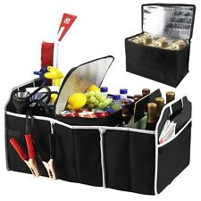 Extra Large Auto Trunk Organizer w/ 3 Folding Collapsable Compartments & Cooler